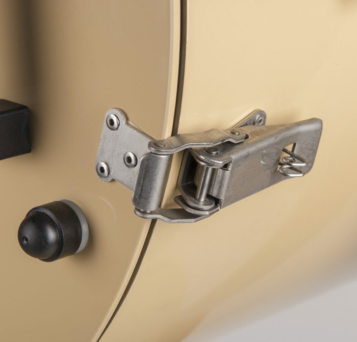 Latch for seematz searchlight