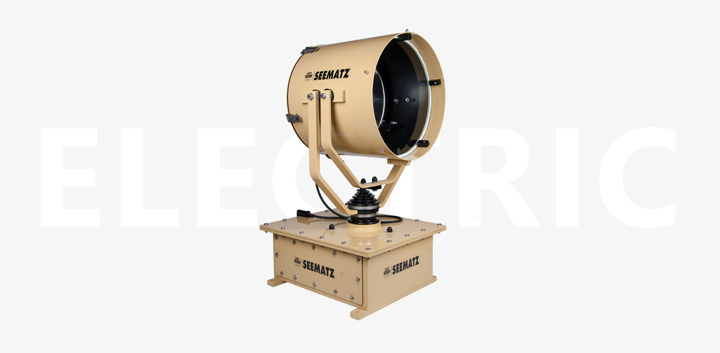 Electronic controlled searchlights